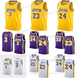 Maglia nera 23 online-NCAA Crenshaw James 23 LeBron James Jersey Black Mamba Anthony Davis 3 maglie Maglia Basketball Maglie