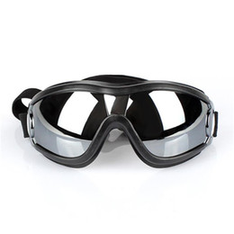 Occhiali da sole della neve online-Regolabile Dog Occhiali da sole anti-UV Occhiali da sole Neve-Proof Eye Wear impermeabile per medie e grandi Dog JK2007XB