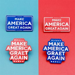 Fare i distintivi online-Trump Brooch Make America Great Again US Presidential Election Badge Premium Badge DHL Free Shipping DHB858