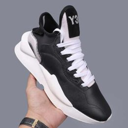 Y3 chaussures de basket-ball en Ligne-Hommes Chaussures Y3 Kaiwa Chunky Chaussures de course plate-forme de basket-ball Y3 Sport Sneakers formation runner Casual Chaussures pour hommes GV1