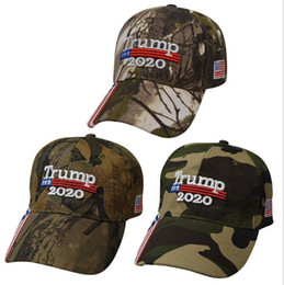 armee camo baseballmützen Rabatt New Donald Trump Cap Camouflage Keep America Great USA Flag Baseball Caps Snapback Hat Embroidery Star Letter Camo Army Cap LJJA1828