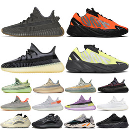Sapata do esporte yeezy on-line-Adidas yeezy boost 350 Vanta Geode Cement Inertia Static Wave Runner Running Shoes For Mens Womens 700s Mauve sports sneakers 36-46