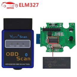 scan android Promotion ELM327 V1.5 avec PIC18F25K80 Chip Bluetooth OBD2 Scanner VGate OBDII Scan Tool CAN-BUS Fonctionne sur Android Couple / PC