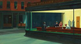 2020 kunst leinwand new york city Nighthawks von Edward Hopper New York City Night Life Home Decor Handbemalte HD-Druck Öl 200802 Malerei auf Leinwand-Wand-Kunst-Leinwand-Bild günstig kunst leinwand new york city
