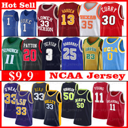 2021 maglia da basket eagles  NCAA LSU Tigri Jersey Shaquille Navy O'Neal Prima HardAway Young 11 Trae Marquette Dwyane Golden Eagles Iverson Wade Basket Plox Jerseys maglia da basket eagles  economici