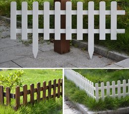 decorazioni in legno recinto Sconti Solid wood Garden Fencing Trellis Antiseptic Wooden Fence Guardrail Gates Courtyard Wedding Garden Flower beds decorations 60x35x20cm DHL