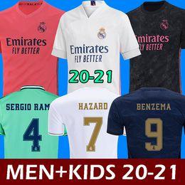 2019 ko Fußball Trikots Real Madrid 20 21 Gefahr JOVIC MILITAO soccer jersey T-Shirt 2020 2021 kids VINICIUS JR ASENSIO Fußball Trikot Kinder MARCELO ISCO T-Shirt