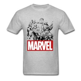 Merveille t shirts en Ligne-Hommes Top gris T-shirts Hulk Marvel Comics ras du cou T-shirts Mode de remise en forme T-shirts Superheroes Top T