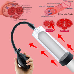 Bombas de haste on-line-Penis Bomba haste Vacuum Pull Enlarger Sex Toys for Men pênis extensor de pênis ereção alargamento da luva Enlarger homem Masturbator CX200803