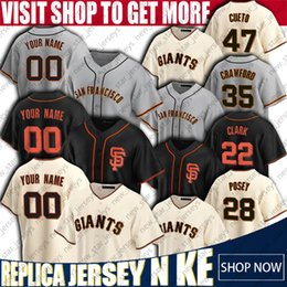 malhas de baseball de san francisco Desconto 28 Buster Posey Jersey Brandon Crawford Jerseys San Francisco Giants personalizado Baseball Jersey Brandon Belt Cueto Davis Madison Bumgarner
