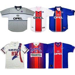 ko Rabatt 90 92 Retro Paris ANELKA Okocha Weah Fußball Jersey 1993 94 95 96 2000 01 98 99 Wörns Fußballhemd Ronaldino alter maillot