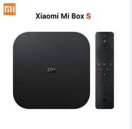 Cajas de tv xiaomi online-Xiaomi Mi caja de la TV S 4 Android 8.1 4K HD QuadCore inteligente Bluetooth 2 GB 8 GB H D MI inalámbricas establecidas mi caja S Media Player