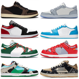 Tênis de basquete on-line-Womens Basketball formadores SB Dunk Low Chunky Dunky Mens Shoes 1 1s Bred Real escuro Mocha Green Island UNC Ouro Homens sapatilhas esportivas