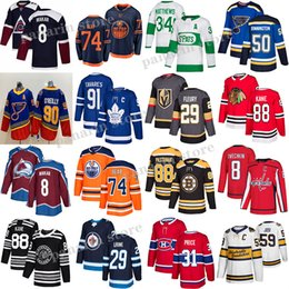 jersey boston  Desconto Toronto Maple Leafs Jersey 91 Tavares 34 Auston Matthew Edmonton Oilers 97 Connor McDavid Boston Bruins 88 David Pastrnak Hóquei Jerseys