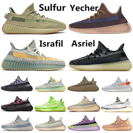 Chaussures de ski en Ligne-2020 Kanye West Yecher Asriel Israfil Sulfu Running Shoes Tail Light Static Zebra Linen Citrin Gid Clay Earth Cinder Mens Trainers Sneakers