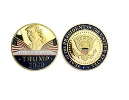 2021 scatole di intarsio in legno Trump discorso commemorativo della moneta America del Presidente Trump 2020 Collection Monete Crafts Trump Keep America Grandi monete DHE416