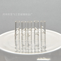 Feine rohre online-Fashion Glass Filter Tips Transparent Feine Zigarettenspitze Wasser-Rohr-Fittings 8mm Raucher Hohe Temperaturbeständigkeit 1 2YF D2