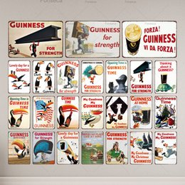 2020 fête d'artisanat d'art Guinness Vintage Streength Lovely Day métal Tin Sign Retro Craft Bar Plaques Décoration murale Art Kitchen Party Accueil promotion fête d'artisanat d'art