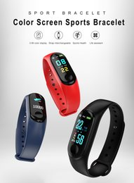 bezahlen mobiltelefone Rabatt M3 New Color-Bildschirm Smart-Armband-Handy Bluetooth-Tracking-Herzfrequenz-Blutdruck-Überwachung Sport wasserdichtes Pedometer-Armband