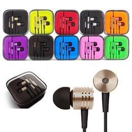 Piston Earphone 3.5Mm Jack Earphones Headset In Ear Electroplating Headphones Stereo Earbuds for smart phone