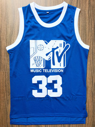 2020 shirts musik Mens Will Smith # 33 Basketball Jersey Music Television First Annual Rock-N'Jock B-Ball Jam 1991 Blau Will Smith genähte Hemden Größe S-XXL rabatt shirts musik