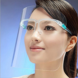Plastiksicherheit augen online-In stock Safety Plastic Clear Glasses Frame Transparent Anti-Fog Layer Protect Eyes Face Shield Sheet EEA1800