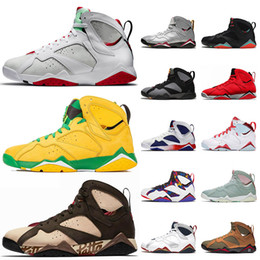 ray-top  Rabatt 2020 Top Art und Weise Jumpman 7 7s Hare Oregon Ducks Patta Basketball-Schuh-Retro Pullover Bordeaux GMP Ray Allen reine Geld Herren Trainer Turnschuh