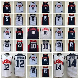 2020 team usa basketball jerseys Basketball 2012 Team USA Jersey Kevin Durant 5 LeBron James 6 12 Harden Russell 7 Westbrook Chris 13 Paul Deron Williams 8 Anthony Davis 23 rabatt team usa basketball jerseys