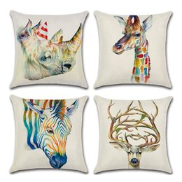 Shop Linen Giraffe Cushion Cover Uk Linen Giraffe Cushion Cover Free Delivery To Uk Dhgate Uk