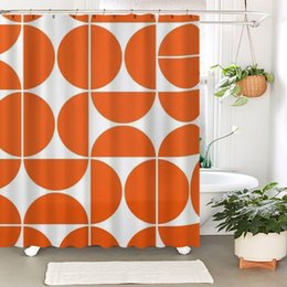 moderne docce Sconti Bathroom Sets Shower Curtain Set Geometric Modern Bathroom Shower Curtain Dry and Wet Separation Partition Shower Room Waterproof Cur