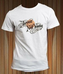 Neil junges t-shirt online-Neil Young Crazy Horse Harvest Moon Legend T-Shirt Männer-T Plus Size Tops T-Shirt