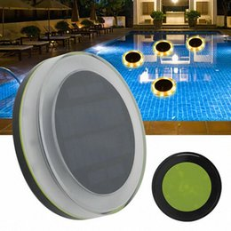 Schwimmende solar-led-pool-lichter online-Solar-LED-Floating-Partei dekoratives Licht mit Fernbedienung IP68 100% wasserdicht Energy- Saving Pool Zubehör 1MIC #