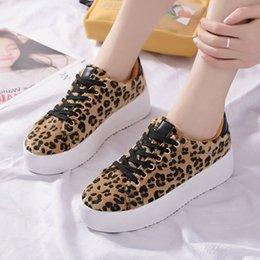 Leopard Print Flat Shoes Women