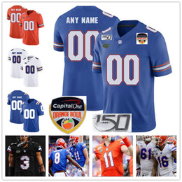 Jerseys tebow on-line-Custom Florida Gators College Football Jersey Kyle Trask Pitts Tim Tebow Emmitt Smith Mohamoud Diabate personalizado camisolas