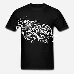 Camicie modesti online-Modest Mouse Arte Americana Rock Band 2 T-shirt in cotone Brand New