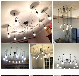US $182.97 10% OFF|10 Lights bulb & remote control) Edison Chandelier, Edison light bulb chandelier,Modern chandeliers Pendant Lamp dinning room|lamp