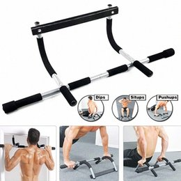 Porte pull up bar en Ligne-Nouveaux Pull Up Sit Up Door Bar Portable Chin-Up pour le haut du corps Workout Doorway Vq49 #