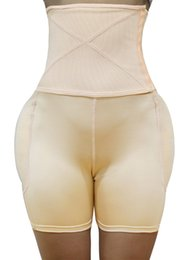 culottes de fesses hanches Promotion S-6XL Women's Shapewear Butt Lifter High Waist Padded Panty Body Shaper 4 Pcs Pad Back Side Enhancer Hip Pads Fake Buttock MX200711