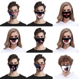 Masques d'aigle en Ligne-Usa Drapeaux Masques débarbouillettes Eagles Masque Reuseable Noir Lavable Skull Cat Mascarilla respirateurs Mode enfants 2 2zj C2