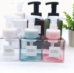 Trucco di schiuma online-250ml Empty Foam Pump Bottle Hand Soap Foaming Dispenser Travel Square Makeup Shampoo Containers bottle KKA7978