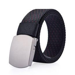 2020 Men s Canvas Belt Metal Tactics Woven Belt Canvas Casual Pants Cool Wild Gift for Men Belts ceinture homme casual