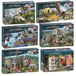 gebäudeuhren Rabatt Harri Movie Magic Schule Wagen Voldemort Clock Tower Building Block Spielzeug Kompatibel legoinglys 75945 75946 75957 75958 75965 66