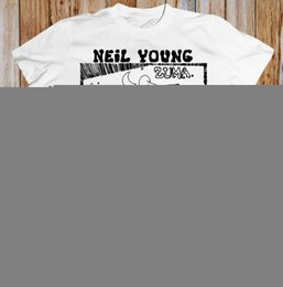 Neil junges t-shirt online-Neil Young Crazy Horse Zuma Folk Rock Retro-T-Shirt atmungsaktiv Männer Tops T-Shirt Unisex