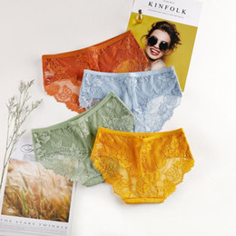 mutandine a molla Sconti 3 pezzi molla interna Lace Cotton Panties traspirante di estate donne e sottili di estate Slip