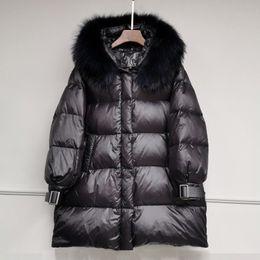 Bubble Coat Winter Jacket Women Hooded Shiny Padded Jacket Black Parka Ladies Fashion Quilted Glossy Jackets Women Overcoat 2020 T200114