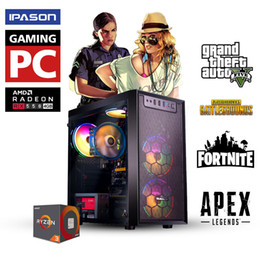 Laptop core amd on-line-Ryzen3 3100 RX550 8GB Gaming Desktop PC AMD Ryzen3 3100 4 Core, 120GB SSD, PUBG GTA V, computador desktop No laptop