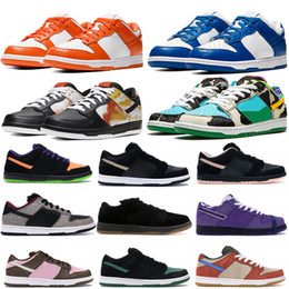 orange plaid schuhe Rabatt Top Qualität Low Bequeme Plattformschuhe Chunky Dunky Travis Scotts Casual Sneakers Tie-Dye Black White Varsity Royal Schuhe 36-45