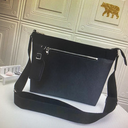 Piccolo sacchetto di messaggero in pelle nera online-N40003 MICK PM Piccolo Uomini Messenger Bag business casual borse in pelle a tracolla Damier Graphite Tela Moda Classic Black Man spalla