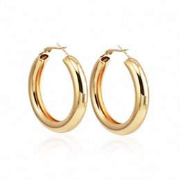 Серьги с крестом для продажи-Fashion Popular Cool Big Rough round Metal Women Earrings Hoop Earrings Cross-Border Jewelry C0129 5HOB#