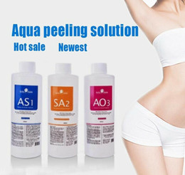 Microdermabrasion aquatique en Ligne-Solution Peeling Aqua AS1 SA2 ao3 bouteilles / 400ml bouteille Aqua visage Sérum Hydra visage dermabrasion pour peau normale microdermabrasion